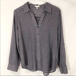 Joie Erven Plaid Top